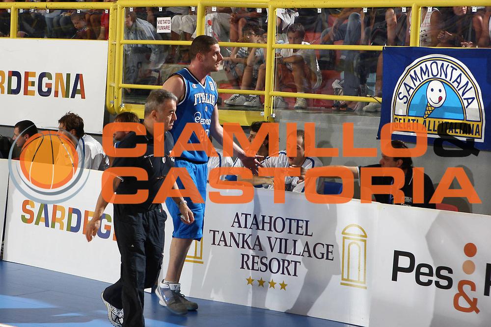 DESCRIZIONE : Cagliari Eurobasket Men 2009 Additional Qualifying Round Italia Francia<br /> GIOCATORE : Valerio Amoroso<br /> SQUADRA : Italy Italia Nazionale Maschile<br /> EVENTO : Eurobasket Men 2009 Additional Qualifying Round <br /> GARA : Italia Francia Italy France<br /> DATA : 05/08/2009 <br /> CATEGORIA : <br /> SPORT : Pallacanestro <br /> AUTORE : Agenzia Ciamillo-Castoria/C.De Massis