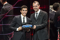 November 13, 2017 - Cheste, Spain - MotoGP Award Night Marc Marquez receive a BMW prize for best qualifyer (Credit Image: © Gaetano Piazzolla/Pacific Press via ZUMA Wire)