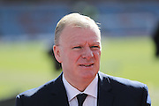 Leeds United manager, Steve Evans  before the Sky Bet Championship match between Burnley and Leeds United at Turf Moor, Burnley, England on 9 April 2016. Photo by Simon Davies.