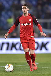 February 14, 2019 - Rome, Rome, Italy - Sergi Gomez of Sevilla during the UEFA Europa League round of 32 match between Lazio and Sevilla at Stadio Olimpico, Rome, Italy on 14 February 2019. (Credit Image: © Giuseppe Maffia/NurPhoto via ZUMA Press)