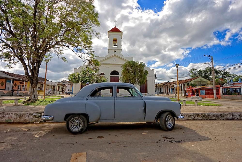 Square in El Cano, south Havana, Cuba.