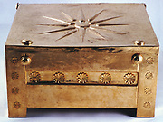 Gold larnax (funerary casket) from the Macedonian royal tombs at Vergina 350-325 BC. Archaeological Museum of Thessaloniki
