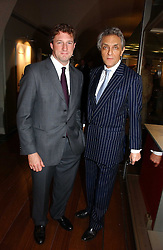 Left to right, NICK HOFFMAN chairman of the Gilbert Collection Trust and ANDREW KERMAN at 'Britannia & Muscovy English Silver at The Court of The Tsars' exhibition opening at the Gilbert Collection, Somerset House, London on 20th October 2006<br /><br />NON EXCLUSIVE - WORLD RIGHTS