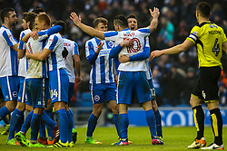 Tomer Hemed of Brighton & Hove Albion scores from the penalty spot, Brighton & Hove Albion 3-0 Burton Albion - Mandatory by-line: Jason Brown/JMP - 11/02/2017 - FOOTBALL - Amex Stadium - Brighton, England - Brighton and Hove Albion v Burton Albion - Sky Bet Championship