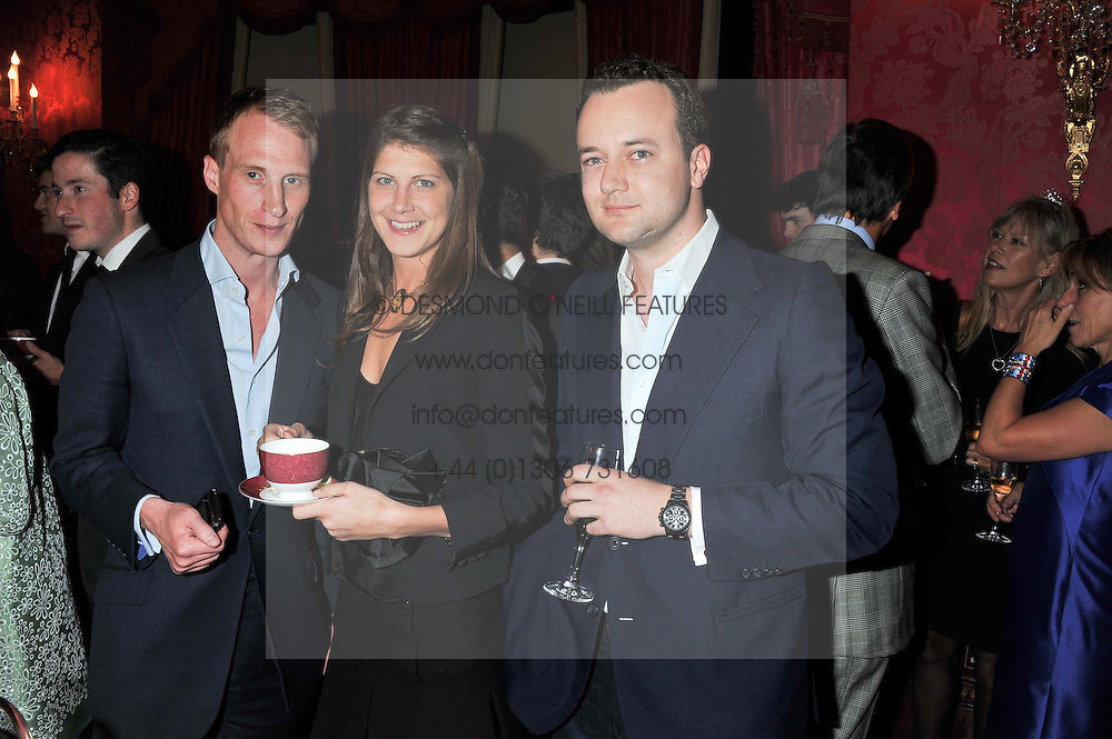 Left to right, NICK KINDER,  PRINCESS FLORENCE VON PREUSSEN and the MARQUESS OF BRISTOL at Tatler's Jubilee Party in association with Thomas Pink held at The Ritz, Piccadilly, London on 2nd May 2012.