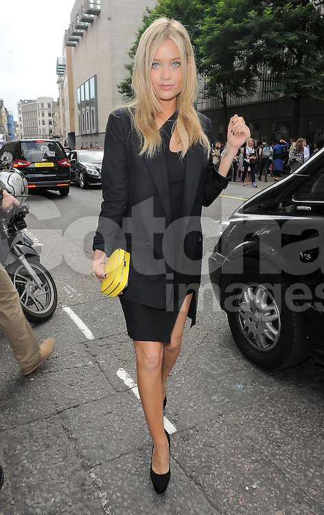Laura Whitmore attends the Julien Macdonald SS 2015 catwalk show during London Fashion Week Spring Summer 2015 in London, UK. 13/09/2014 <br />
