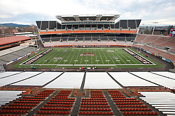 December 4, 2010; Corvallis, OR, USA;  General view of  Reser Stadium before the game between the Oregon State Beavers and the Oregon Ducks.