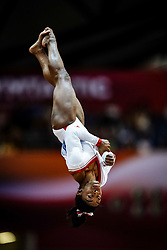 November 2, 2018 - Doha, Qatar - Simone Biles of  United States   during  Vault for Women at the Aspire Dome in Doha, Qatar, Artistic FIG Gymnastics World Championships on 2 of November 2018. (Credit Image: © Ulrik Pedersen/NurPhoto via ZUMA Press)