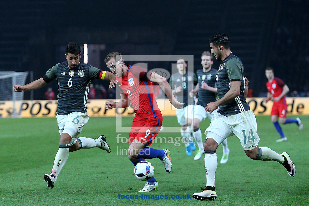 Harry Kane of England in action during the International Friendly match at Olympiastadion Berlin, Charlottenburg-Wilmersdo<br /> Picture by Paul Chesterton/Focus Images Ltd +44 7904 640267<br /> 26/03/2016