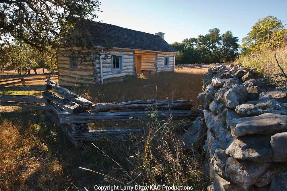 Ferdinand Hohenberger Farmstead Historic Site near Fredericksberg, Texas, autumn