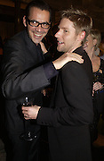 Roland Mouret and Christopher Bailey. British Fashion awards 2005. V. & A. Museum. Cromwell Rd. London.   10  November 2005 . ONE TIME USE ONLY - DO NOT ARCHIVE © Copyright Photograph by Dafydd Jones 66 Stockwell Park Rd. London SW9 0DA Tel 020 7733 0108 www.dafjones.com