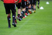 Fussball 1. Bundesliga:  Saison   2010/2011    Training beim FC Bayern Muenchen 02.08.2010 Allgemein, ADIDAS SCHUHE
