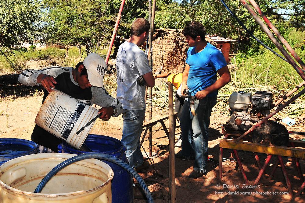 Drilling a water well in Yapiroa, Charagua, Santa Cruz, Bolivia