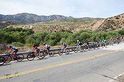 Coryn Rivera (USA), Ashleigh Moolman Pasio (RSA) and Lizzie Deignan (GBR) in the main group at Amgen Tour of California Women's Race empowered with SRAM 2019 - Stage 3, a 126 km road race from Santa Clarita to Pasedena, United States on May 18, 2019. Photo by Sean Robinson/velofocus.com