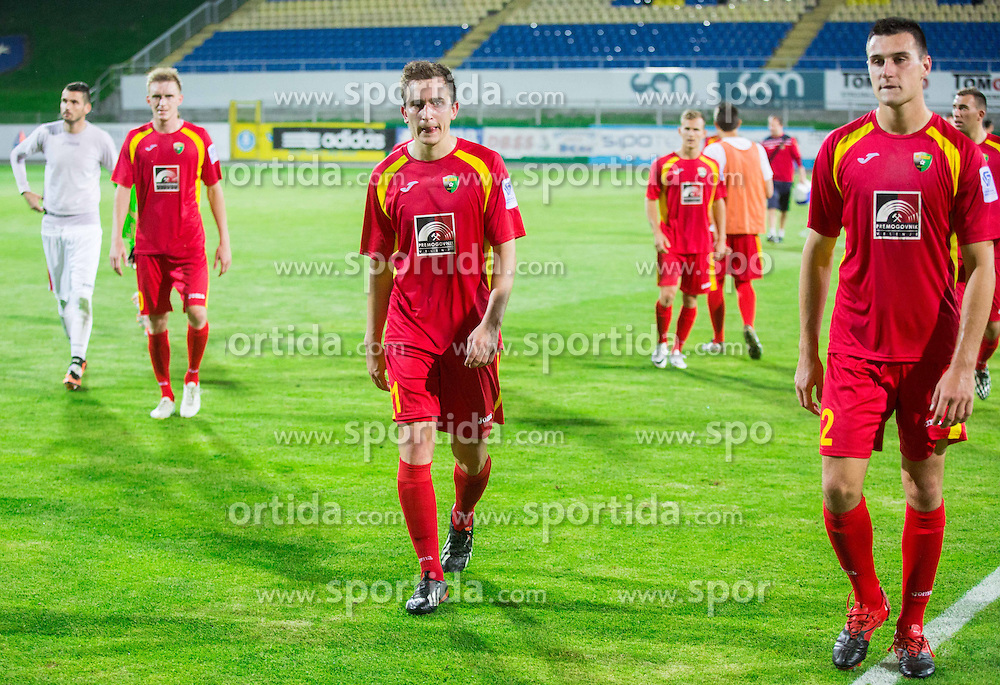 Nikola Tolimir of Rudar after the football match between NK Rudar Velenje and KF Laci (Albania) in 1st Round of UEFA Europa League Qualifications on July 3, 2014 in Arena Petrol, Celje, Slovenia. Photo By Vid Ponikvar / Sportida