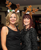 07/12/2014  Jackie Veale  and Sheila Linnane at The Pier Head, Kinvara for Oiche Nollaig na mban (night out for the chicks!) started out as a fun Christmas night for the ladies. Organised by Mary Moloney, Ruth sexton, Valerie Forkan, Sarah Linnane & Jackie Veale, the women quickly decided to make it a fundraiser. Being a women's night the obvious charity of choice was breast cancer awareness, the NBCRI was the chosen beneficiary.  120 participated in the chain link, all sporting a variety of pink bras! Some Christmas carols at the village tree while hanging the bras on the tree was another highlight! PHOTO:Andrew Downes