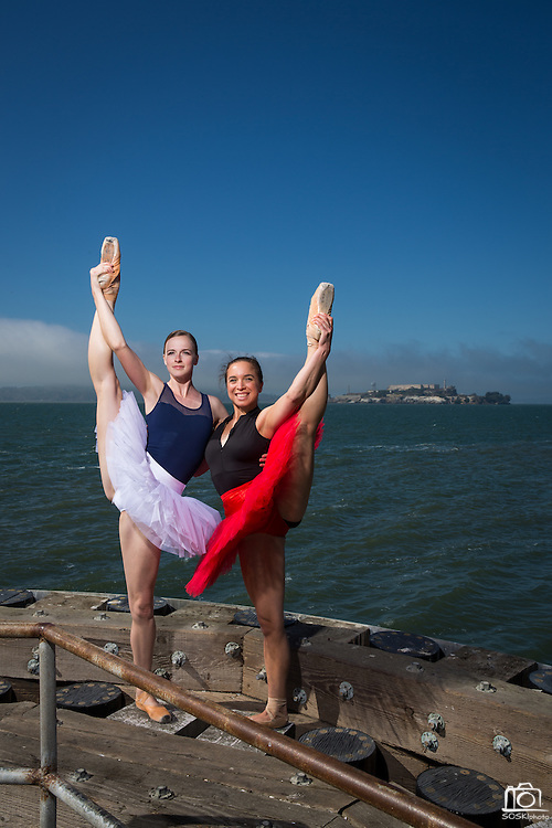 Professional ballerina poses for a dance portrait in San Francisco, California, on June 11, 2015. (Stan Olszewski/SOSKIphoto)