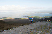 08/11/2014 repro free Participant on Croagh Patrick who took part in the Sea 2 Summit adventure race in Westport Co. Mayo. Photo:Andrew Downes