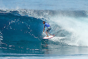 Victor Bernardo placed second in Quarter Final Heat 1 of the Men's Pipe Invitational at Pipeine, Hawaii.