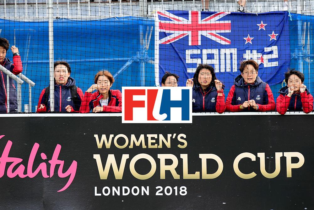 AUCKLAND - Sentinel Hockey World League final women<br /> Match id 10321<br /> Korea v England Bronze<br /> Foto:  Korean fans.<br /> WORLDSPORTPICS COPYRIGHT FRANK UIJLENBROEK