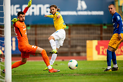 Besart Abdurahimi of Bravo vs Matjaž Rozman of Celje during football match between NK Bravo and NK Celje in 13th Round of Prva liga Telekom Slovenije 2019/20, on October 5, 2019 in ZAK stadium, Ljubljana, Slovenia. Photo by Vid Ponikvar / Sportida