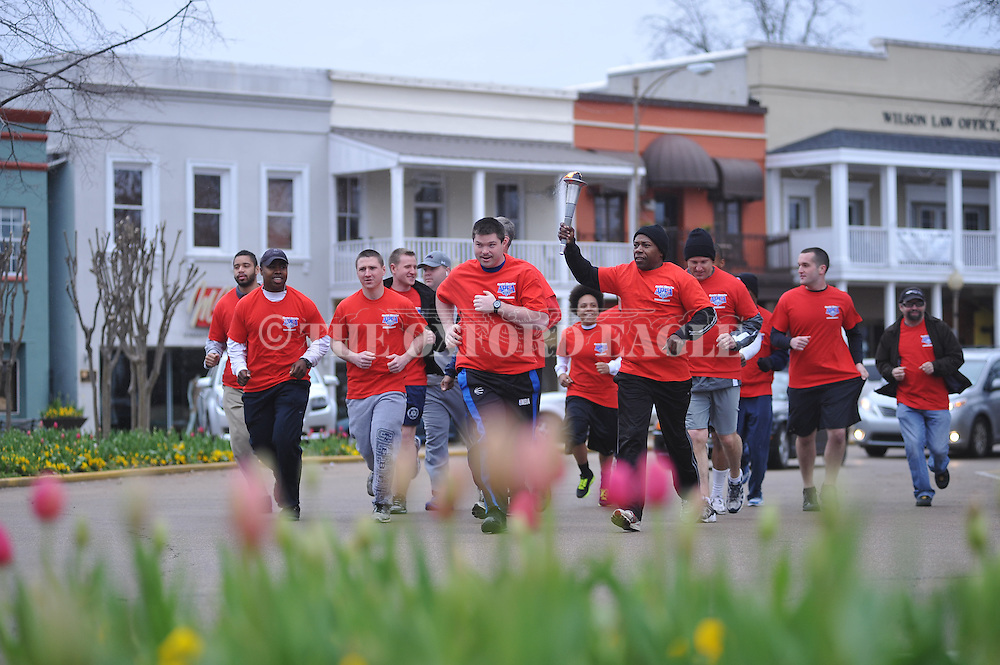 Special Olympics Torch Run in Oxford, Miss. on Wednesday, April 3, 2013.