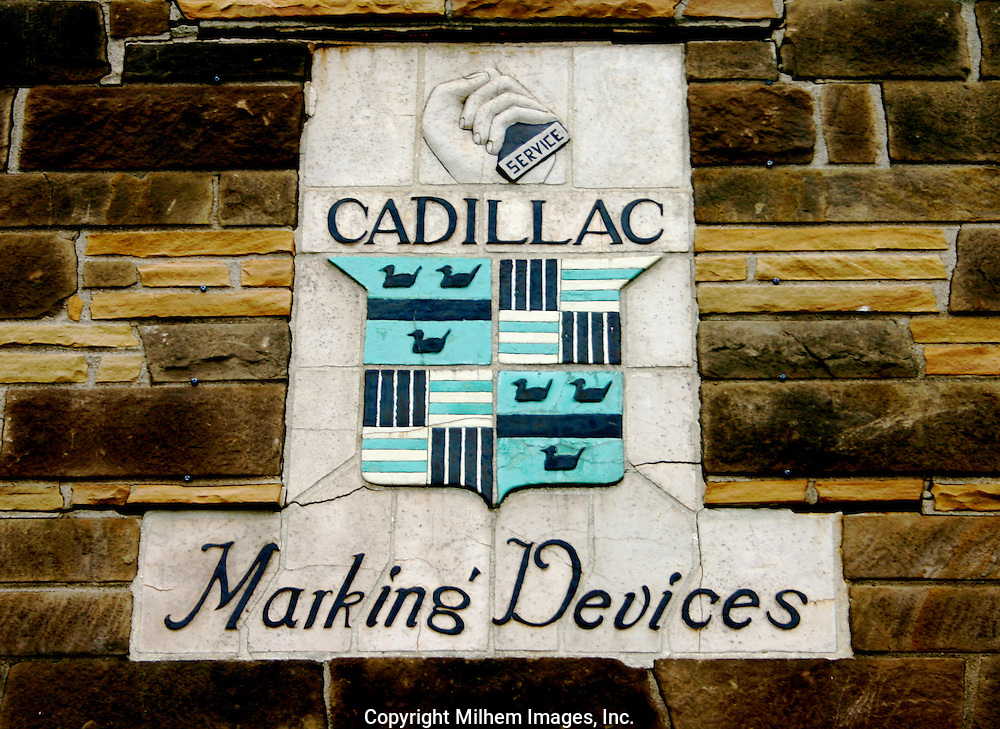 Art Deco Building motif, Cadillac Marking Devices.