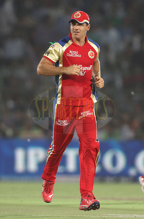 Luke Pomersbach of the Royal Challengers Bangalore during match 30 of the the Indian Premier League (IPL) 2012  between The Rajasthan Royals and the Royal Challengers Bangalore held at the Sawai Mansingh Stadium in Jaipur on the 23rd April 2012..Photo by Shaun Roy/IPL/SPORTZPICS