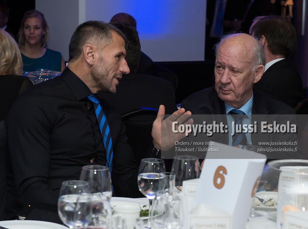 Shefki Kuqi, Stefan Håkans. Captain's Ball. Suomen Palloliito. Helsinki. 27.10.2016. Photo: Jussi Eskola