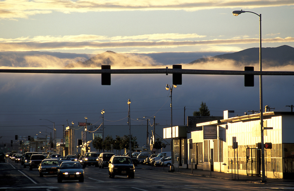 Strasse in Anchorage, Alaska, USA
