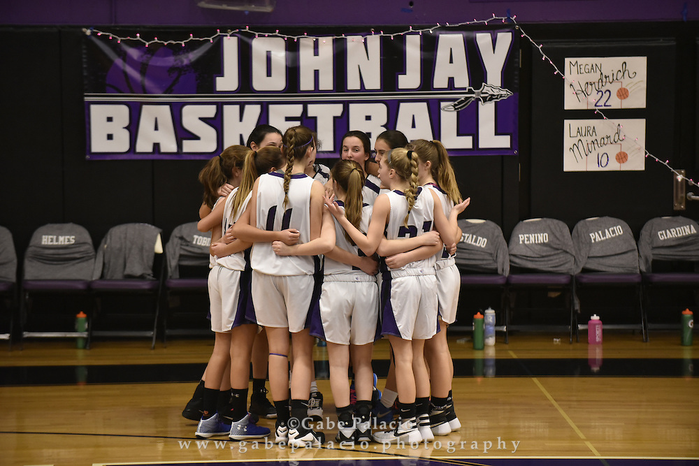 John Jay JV Basketball game at John Jay High School on January 29, 2016. (photo by Gabe Palacio)