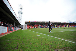 Whaddon Road- Photo mandatory by-line: Nizaam Jones - Mobile: 07966 386802 - 14/02/2015 - SPORT - Football - Cheltenham - Whaddon Road - Cheltenham Town v Bury - Sky Bet League Two