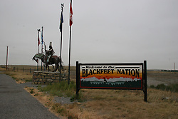 Entrance to the Blackfeet Nation Indian Reservation, Montana