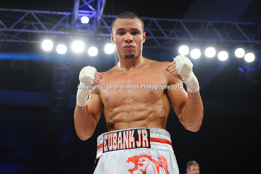 Chris Eubank Jnr defeats Frankie Borg  by way of knock out in a Middleweight contest. Glow, Bluewater, Kent, UK. Hennessy Sports © Leigh Dawney Photography 2013.