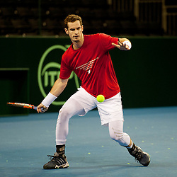 Andy Murray Warms Up | Davis Cup | 4 March 2015