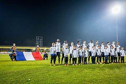 France players during football match between Slovenia and France in Qualifying round for European Under-21 Championship 2019, on November 13, 2017 in Sportni park, Domzale, Slovenia.  Photo by Ziga Zupan / Sportida