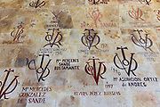 Tutors wall at University of Salamanca, Faculty of Philology - Languages in Plaza de Anaya, Spain