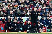 Brighton and Hove Albion Manager Graham Potter during the Premier League match between Liverpool and Brighton and Hove Albion at Anfield, Liverpool, England on 30 November 2019.