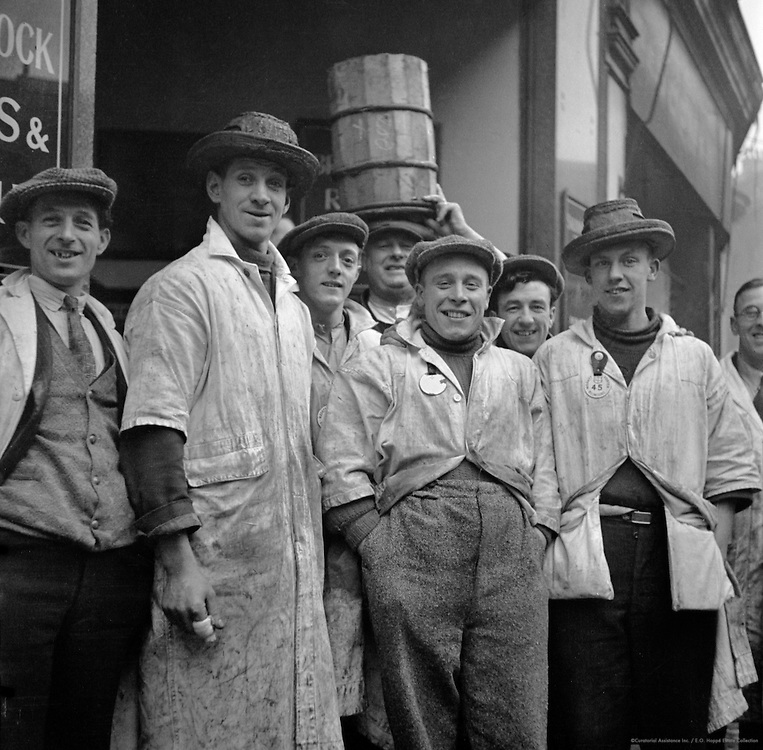 Billingsgate Fishmarket, London, 1934