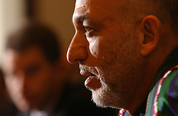BRUSSELS, BELGIUM - MAY-11-2005 - Hamid Karzai , President of Afghanistan. (PHOTO © JOCK FISTICK)..<br />