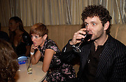 Lorraine Stewart and Michael Sheen. Rushes Soho Shorts Awards evening. 23 Coventry St. London. 4 August 2005. ONE TIME USE ONLY - DO NOT ARCHIVE  © Copyright Photograph by Dafydd Jones 66 Stockwell Park Rd. London SW9 0DA Tel 020 7733 0108 www.dafjones.com