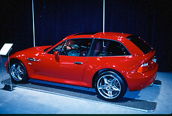 BMW 2 door wagon back on display at the Chicago Auto Show, February 2001...This image was electronically scanned from a 35mm transparency.  It may show spots, noise, scratches and other artifacts from that scan.