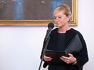 Katarzyna Frank - Niemczycka - President of Special Olympics Polska speaks while meeting in Belvedere palace in Warsaw on October 17, 2012..The mission of Special Olympics is to provide sports training and athletic competition for children and adults with intellectual disabilities...Poland, Warsaw, October 17, 2012..Picture also available in RAW (NEF) or TIFF format on special request...For editorial use only. Any commercial or promotional use requires permission...Photo by © Adam Nurkiewicz / Mediasport