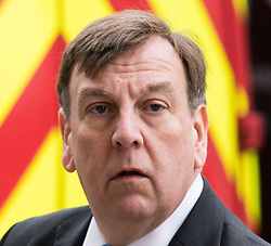 Westminster, London, March 23rd 2016. Culture, Media and Sport Secretary John Whittingdale spotted walking up Whitehall. &copy;Paul Davey<br /> FOR LICENCING CONTACT: Paul Davey +44 (0) 7966 016 296 paul@pauldaveycreative.co.uk