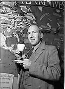"13/10/1952<br /> 10/13/1952<br /> 13 October 1952<br /> Mr. F. Mangan, Manager the Tea Bureau, Merrion Square, Dublin. Shot for the ""People""."