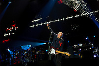 Pete Townshend of The Who performs at the 12-12-12 fundraising concert to aid the victims of Hurricane Sandy, will take place on December 12, 2012 at Madison Square Garden. The concert featured The Rolling Stones, Bon Jovi, Eric Clapton, Dave Grohl, Billy Joel, Alicia Keys, Chris Martin, Bruce Springsteen & the E Street Band, Eddie Vedder, Roger Waters, Kanye West, The Who, and Paul McCartney. All the proceeds went go to the Robin Hood Relief Fund. Robin Hood, the largest independent poverty fighting organization in the New York area, will insure that every cent raised will go to non-profit groups that are helping the tens of thousands.of people throughout the tri-state area who have been affected by Hurricane Sandy...Photo © Robert Caplin..
