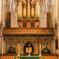 The Alter in Norwich Cathedral in Norfolk in England