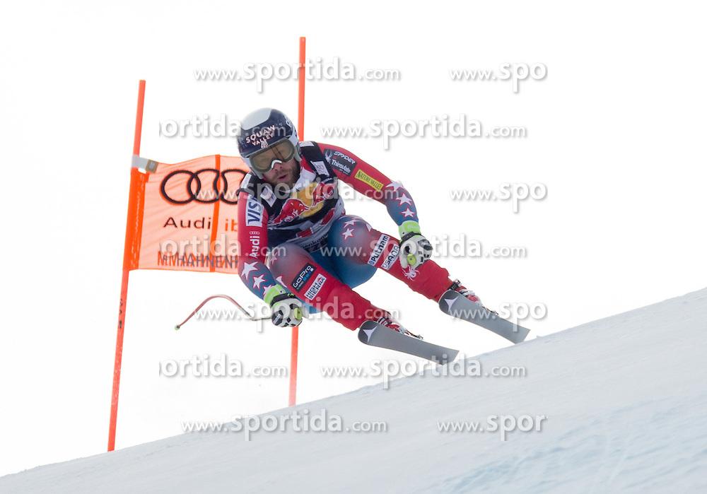 19.01.2016, Streif, Kitzbuehel, AUT, FIS Weltcup Ski Alpin, Kitzbuehel, 1. Abfahrtstraining, Herren, im Bild Travis Ganong (USA) // Travis Ganong of the USA in action during 1st Training of the men's Downhill Race of Kitzbuehel FIS Ski Alpine World Cup at the Streif in Kitzbuehel, Austria on 2016/01/19. EXPA Pictures © 2016, PhotoCredit: EXPA/ Johann Groder