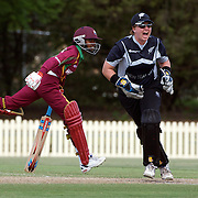Afy Fletcher is run out much to the delight of the New Zealand wicket keeper Rachel Priest during the West Indies V New Zealand group A match at Bankstown Oval  in the ICC Women's World Cup Cricket Tournament, in Sydney, Australia on March 10, 2009. New Zealand won by 56 runs. Photo Tim Clayton
