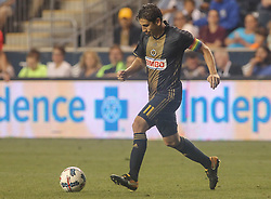 July 26, 2017 - Chester, PA, United States of America - Philadelphia Union Midfielder ALEJANDRO BEDOYA (11) celebrates a goal in the second half of a Major League Soccer match between the Philadelphia Union and Columbus Crew SC Wednesday, July. 26, 2017, at Talen Energy Stadium in Chester, PA. (Credit Image: © Saquan Stimpson via ZUMA Wire)